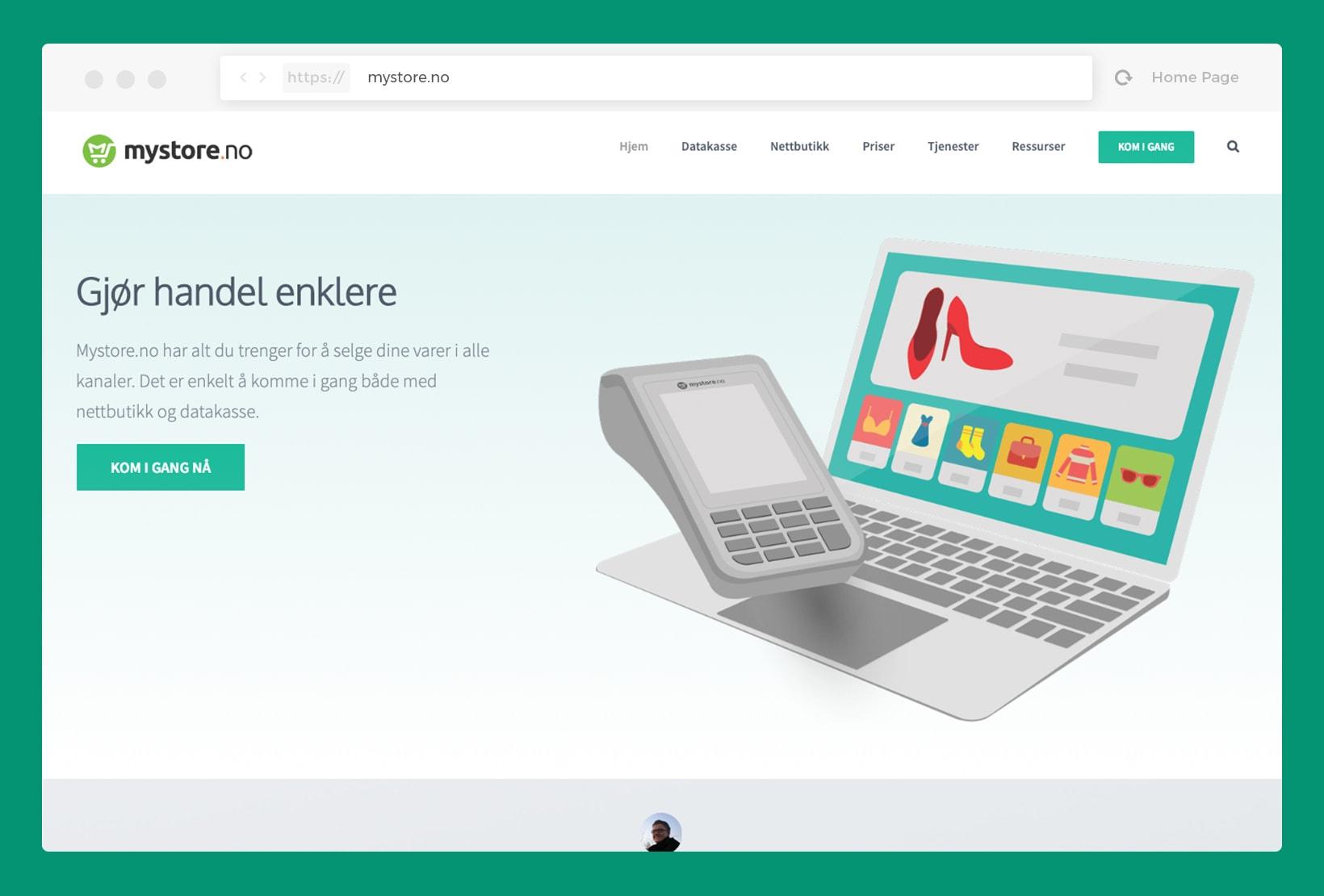 Mystore.no – Homepage