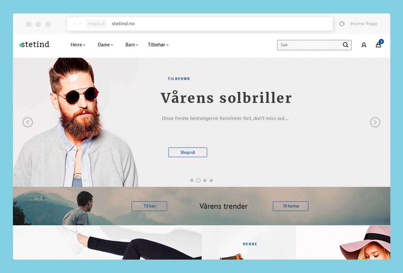 Stetind – ecommerce theme